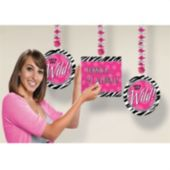 Zebra Print Party Personalized Danglers
