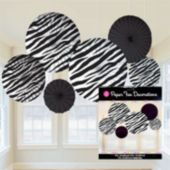 Zebra Print Fan Decorations