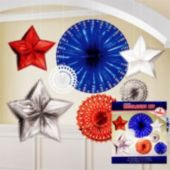 Patriotic Metallic Starbust Decorating Kit