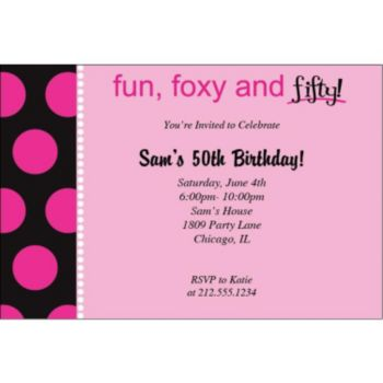 Foxy and 50 Personalized Invitations