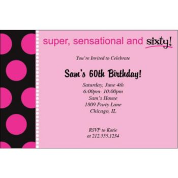 Sensational 60 Personalized Invitations