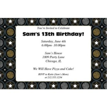 Starburst Party Personalized Invitations