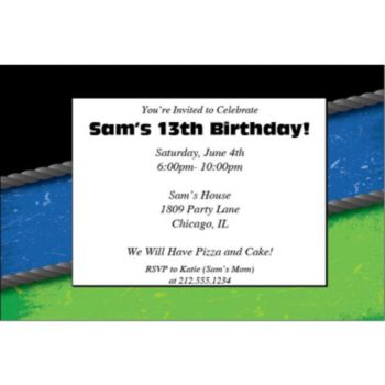 Wrestling Personalized Invitations