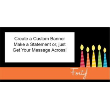 40 Happy Birthday Candles Custom Banner