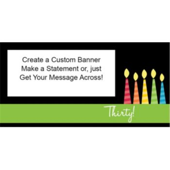 30 Happy Birthday Candles Custom Banner
