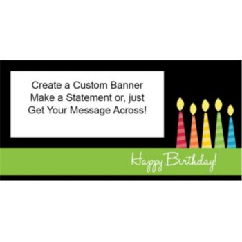 Happy Birthday Candles Custom Banner