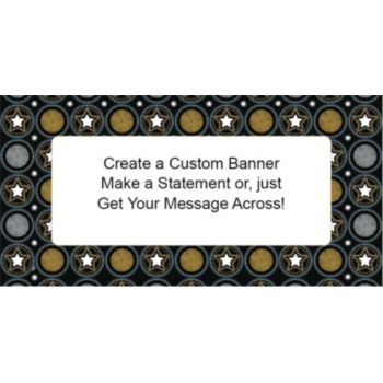 Starburst Party Custom Banner