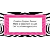 Zebra Pink Party Custom Banner