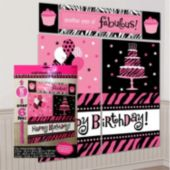Fierce & Fabulous Birthday Wall Decorating Kit