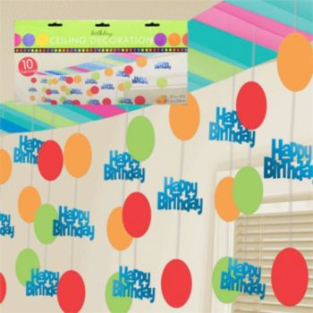 Birthday Stripes  Ceiling Decoration