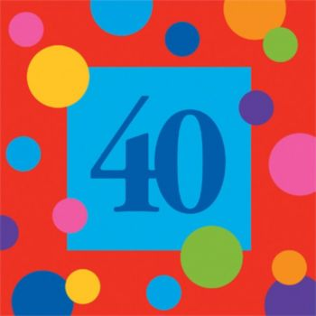 40 Birthday Stripes  Lunch Napkins