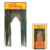 Birthday Stripes Foil Door Fringe