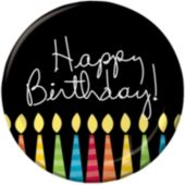 "Birthday Candle 8 3/4"" Plates - 8 Pack"