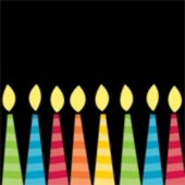 Birthday Candle Beverage Napkins - 16 Pack