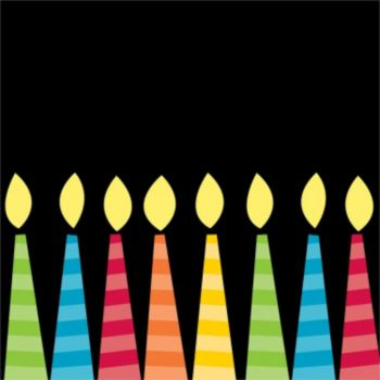 Birthday Candles  Beverage Napkins