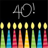 40th Birthday Candles Beverage Napkins