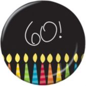 "60th Birthday Candles 7"" Plates - 8 Pack"