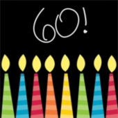 60 Birthday Candles Beverage Napkins