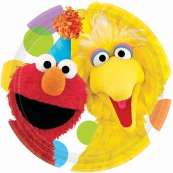 "Sesame Street  7"" Plates"