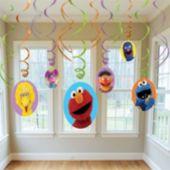 Sesame Street Swirl Decorations-6 Pack
