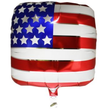 American Flag Metallic Balloon - 18 Inch