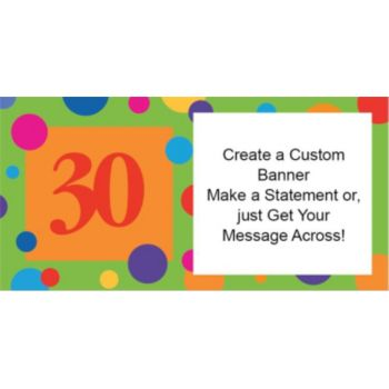 30th Birthday Dots Custom Banner