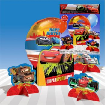 Cars 2 Birthday  Centerpiece Kit