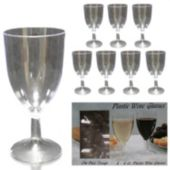 Clear Plastic Wine Glasses - 8 Per unit