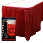 Red Plastic Table Skirt