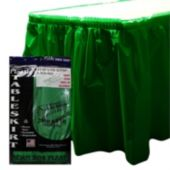 Green Plastic Table Skirt
