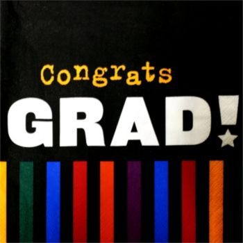 Grad Stripes  Lunch Napkins