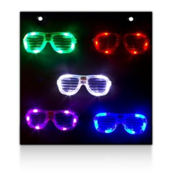 Slotted L.E.D. Eyeglasses Display Board