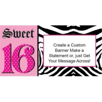 Happy 16th pink zebra