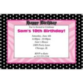 Pink Birthday Polka Dots Personalized Invitations