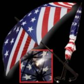 Patriotic Flag LED and Light-Up Umbrella