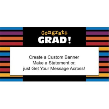 Graduation Stripes Custom Banner