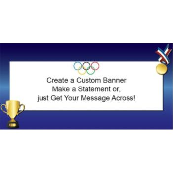 Olympic Gold Custom Banner