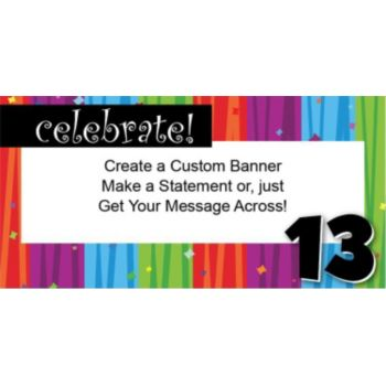 Rainbow Celebration 13 Custom Banner