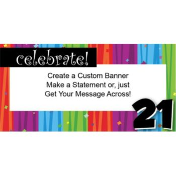 Rainbow Celebration 21 Custom Banner