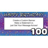 100 Happy Birthday Custom Banner