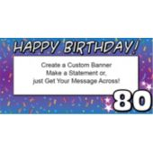 80 Happy Birthday Custom Banner