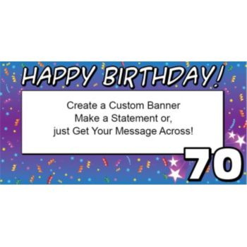 70 Happy Birthday Custom Banner