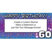 60 Happy Birthday Custom Banner