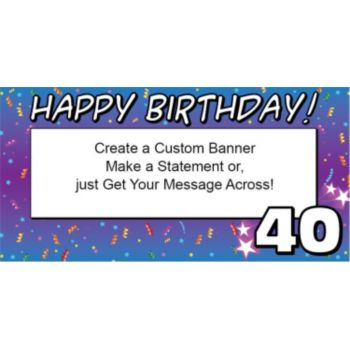 40 Happy Birthday Custom Banner