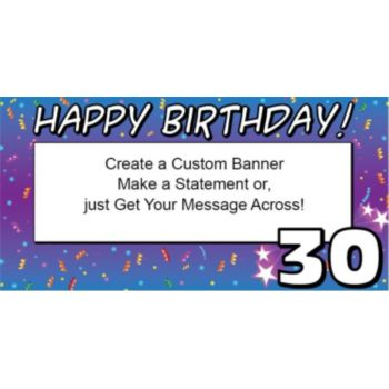 30 Happy Birthday Custom Banner