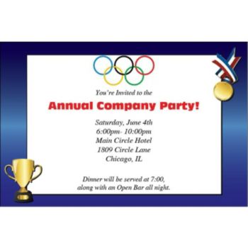Olympic Gold Personalized Invitations