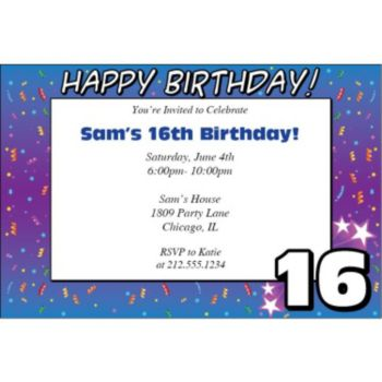 16 Happy Birthday Personalized Invitations