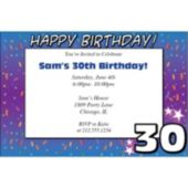 30 Happy Birthday  Personalized Invitations