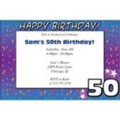 50 Happy Birthday  Personalized Invitations