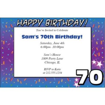 70 Happy Birthday Personalized Invitations